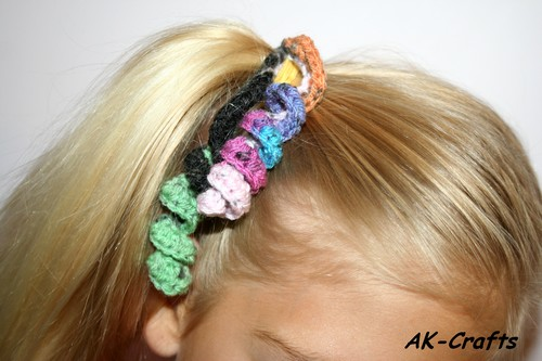 How To Crochet A Hair Spiral Or Corkscrew Ponytail Holder The Art