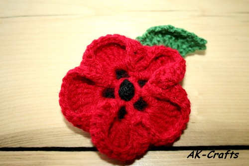 How To Crochet A Poppy Flower The Art Of Craft
