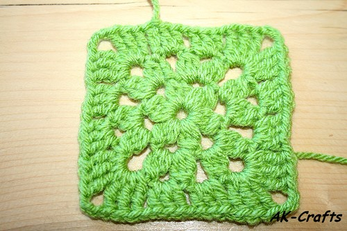 How To Crochet A Star Granny Square Star 1 With One Color The